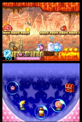Everyone's favorite vacuum mouthed pink puff returns to the Nintendo DS in Kirby Squeak Squad.