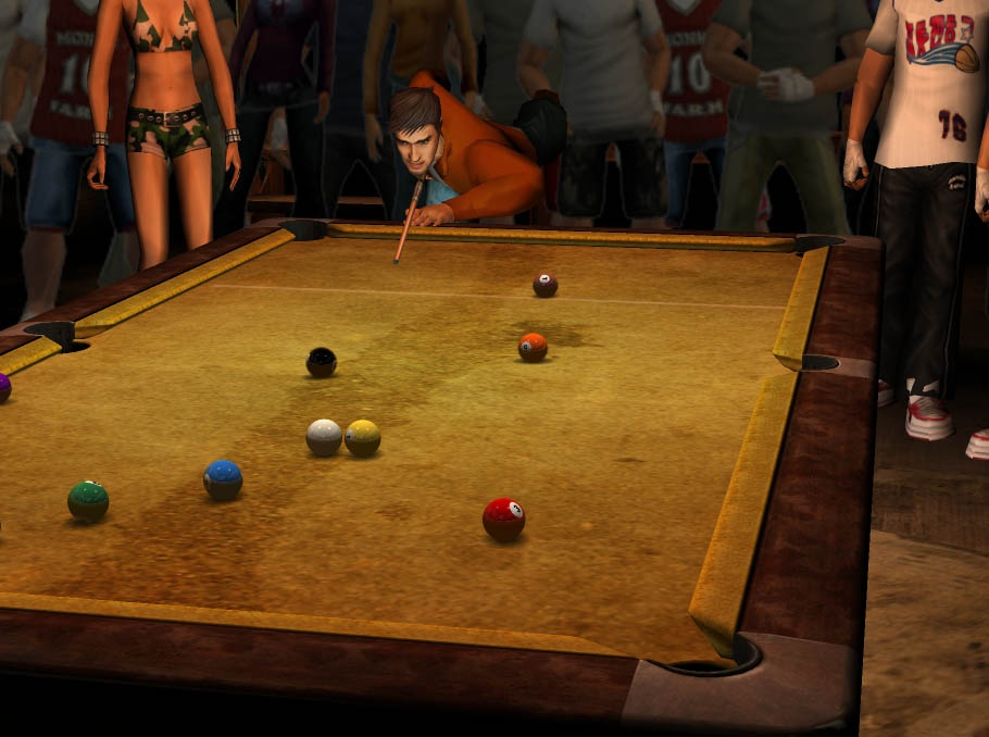 Why waste your time in a lousy 3D version of a seedy pool hall when you can just go to one yourself? Sure, you'll probably get beat up, but it'll still be more fun than this game.