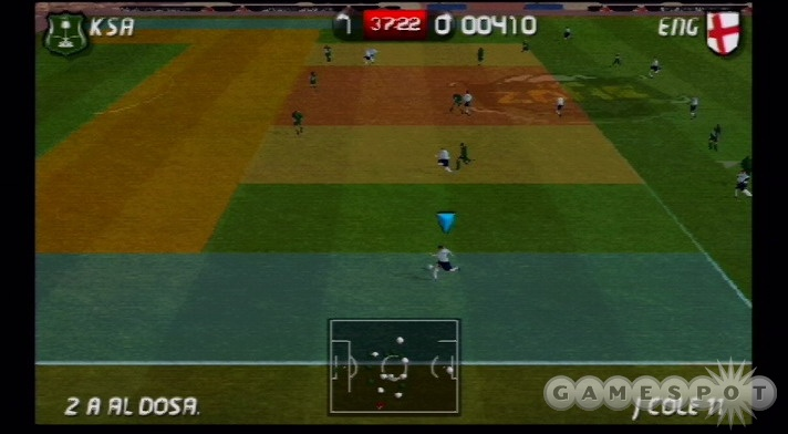 In zone challenges the different colored areas of the pitch represent score multipliers.