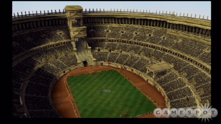 The game's stadiums are based on world landmarks and architecture.