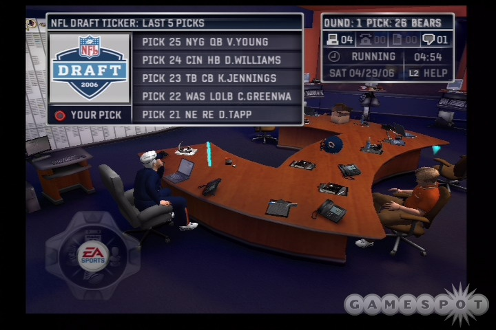 Ah, NFL Draft day. The only thing that could wrong is if the Giants chose Vince Young.