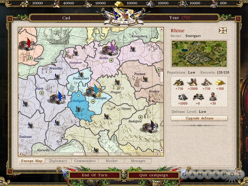 The Battle for Europe mode once again lets you try to conquer Europe, but good luck trying to do so as one of the little guys.