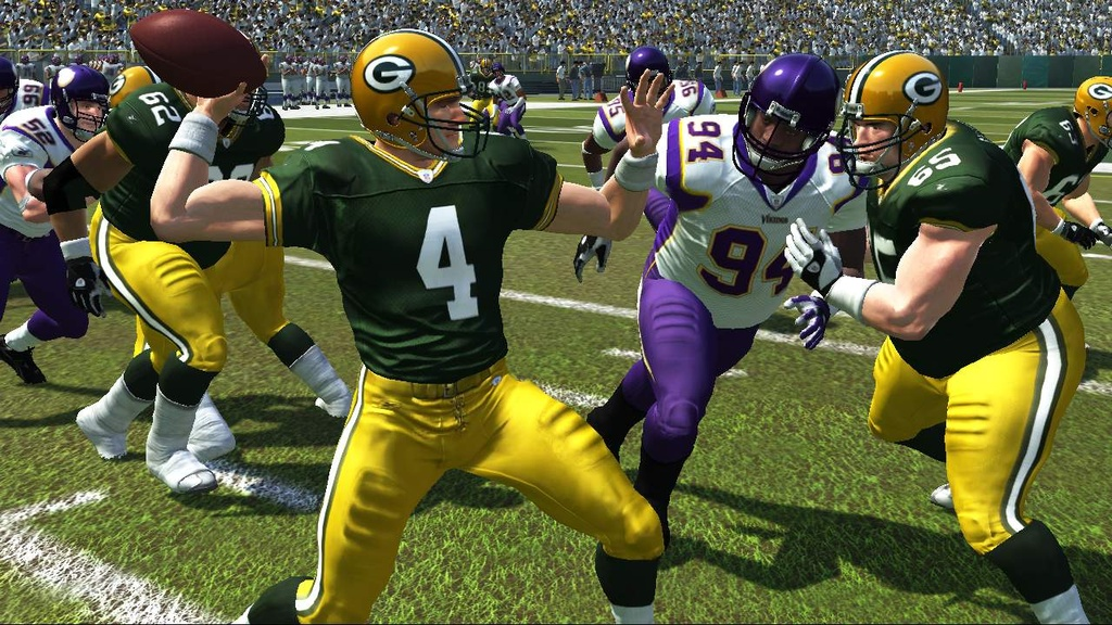 It's safe to say Brett Favre's never looked better than he does here.