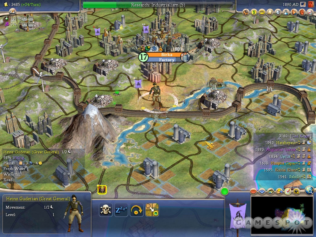 Warlords introduces new civilizations, new scenarios, and new units, such as, well, warlords in the form of great generals.