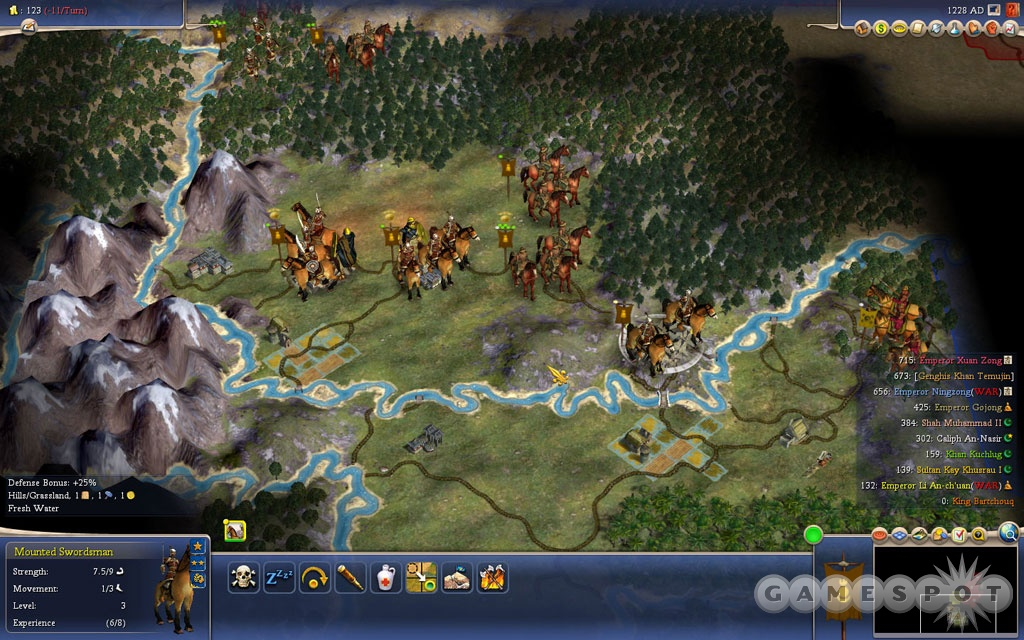 The new scenarios are challenging and can make you rethink how you play Civ. For instance, as the Mongols, your job is to destroy, not to build.
