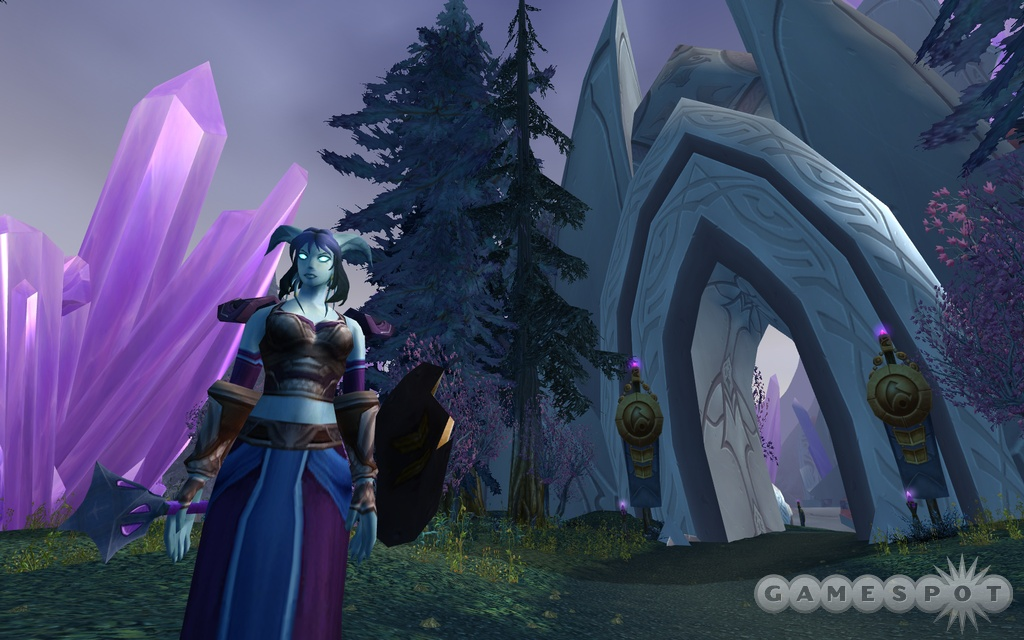You'll explore the Draenei home city of Exodar, among other places, in the new World of Warcraft expansion pack.