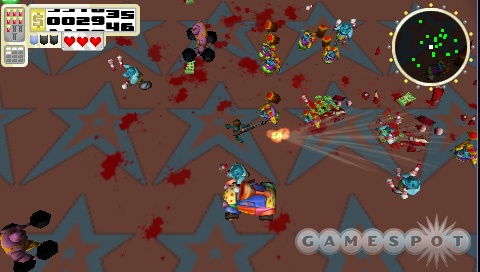 Cash Money Chaos will give you a healthy dose of overhead-shooting blood and guts on the PSP.