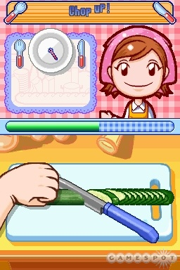 As amusing as the notion of chopping up vegetables via the stylus is initially, it wears thin after a short while.