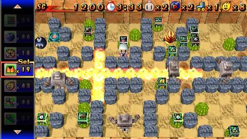 Bomberman makes a great debut on the PSP by sticking to a tried-and-true formula.
