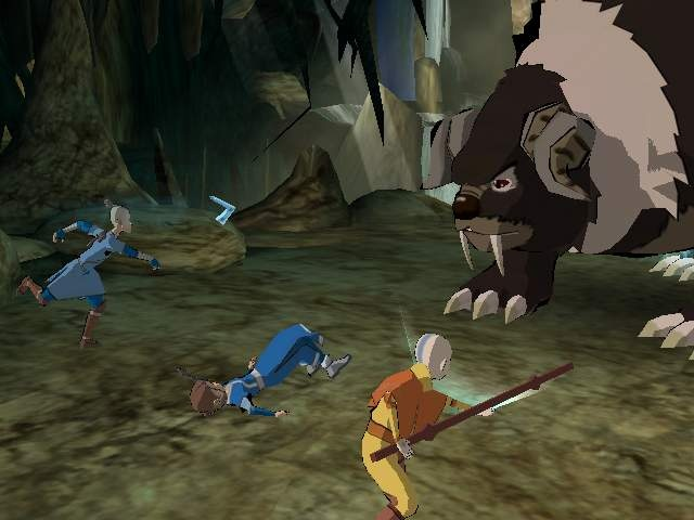 There are four people in your party, but you rarely need to use anyone other than Aang.