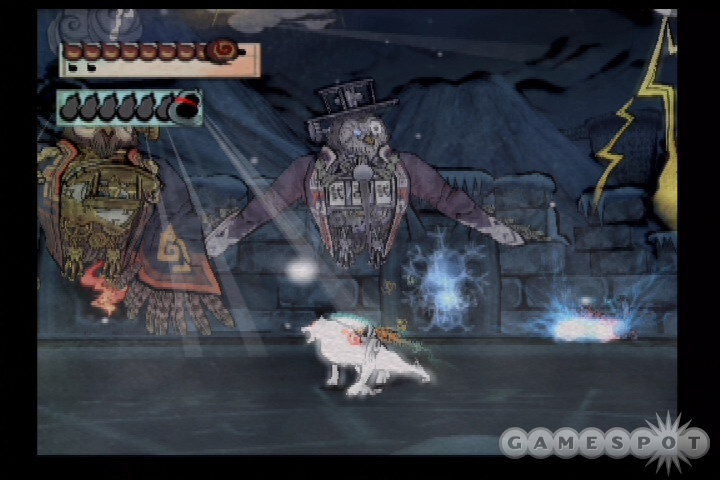 You'll face many fearsome foes during your long journey, though the combat in Okami isn't very frequent or difficult.