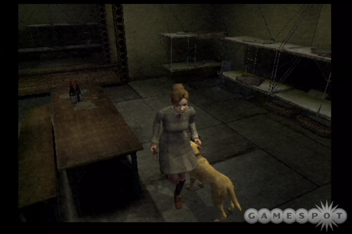 At least you'll have a trusty canine companion to help guide you through this game's confusing series of rooms and passageways.
