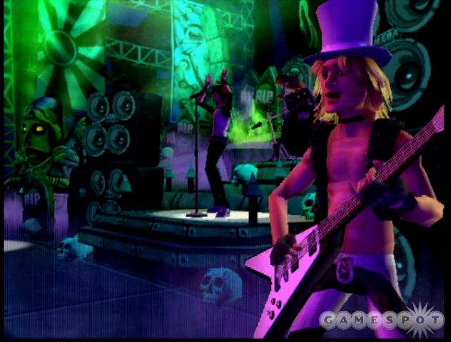 Hellish rock death returns to the PlayStation 2 in Guitar Hero II.