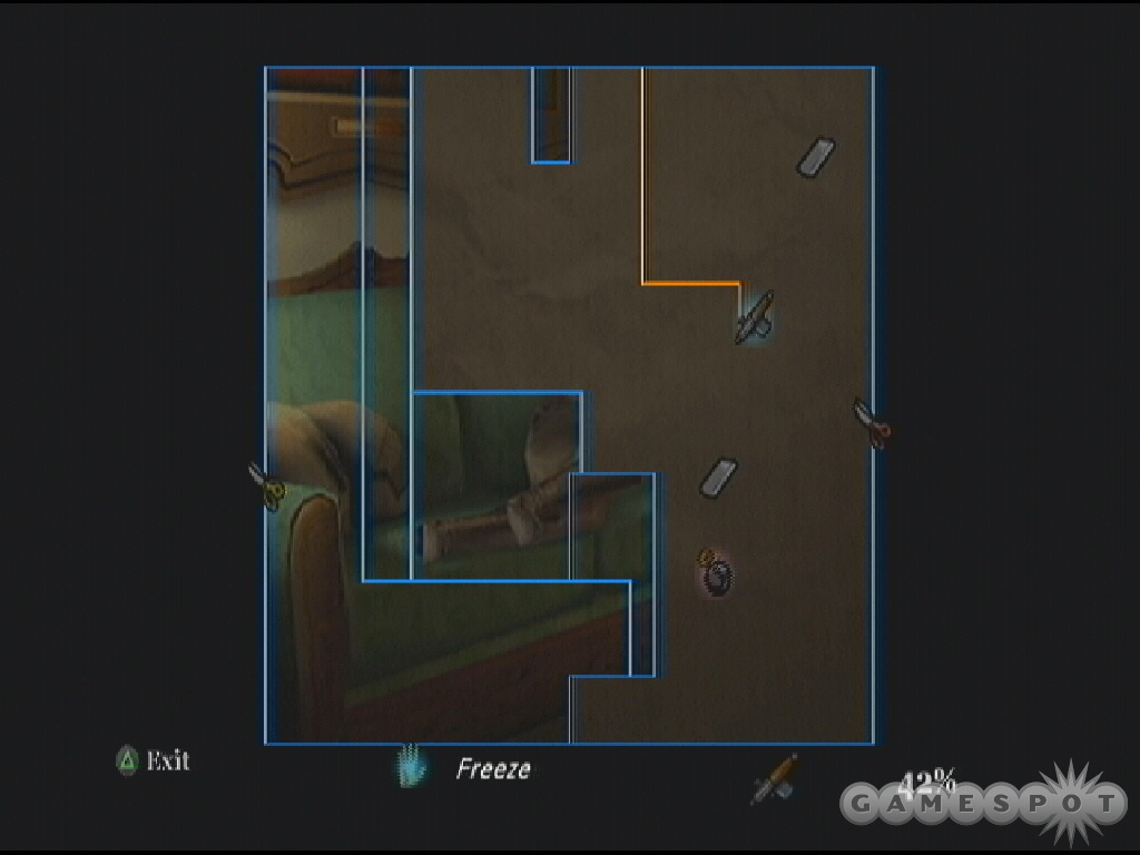 The Art class mini-game is similar to the classic arcade Qix.