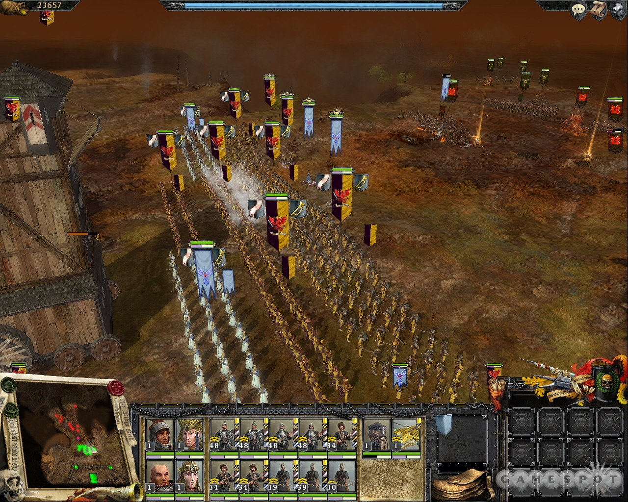 The battles in Mark of Chaos are just like the ones in Total War games, only these feature orcs, demons, elves, and other fantasy creatures.