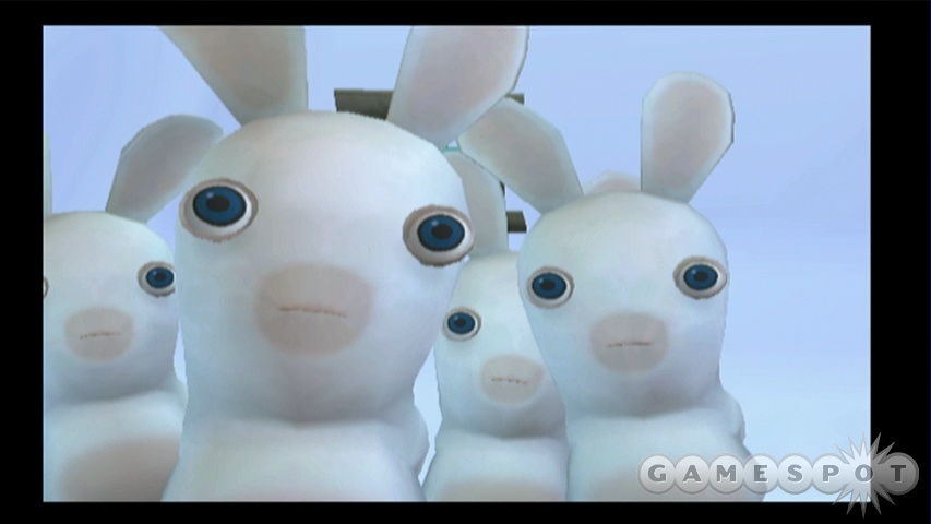 It might have Rayman in the title, but the real stars of the show are the adorably bizarre raving rabbids.