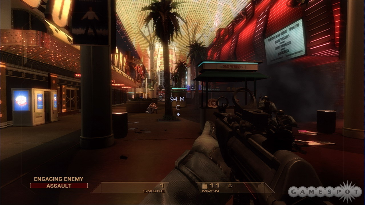 You'll go from the slums of Mexico to the glittering casinos of Las Vegas in this intense tactical shooter.