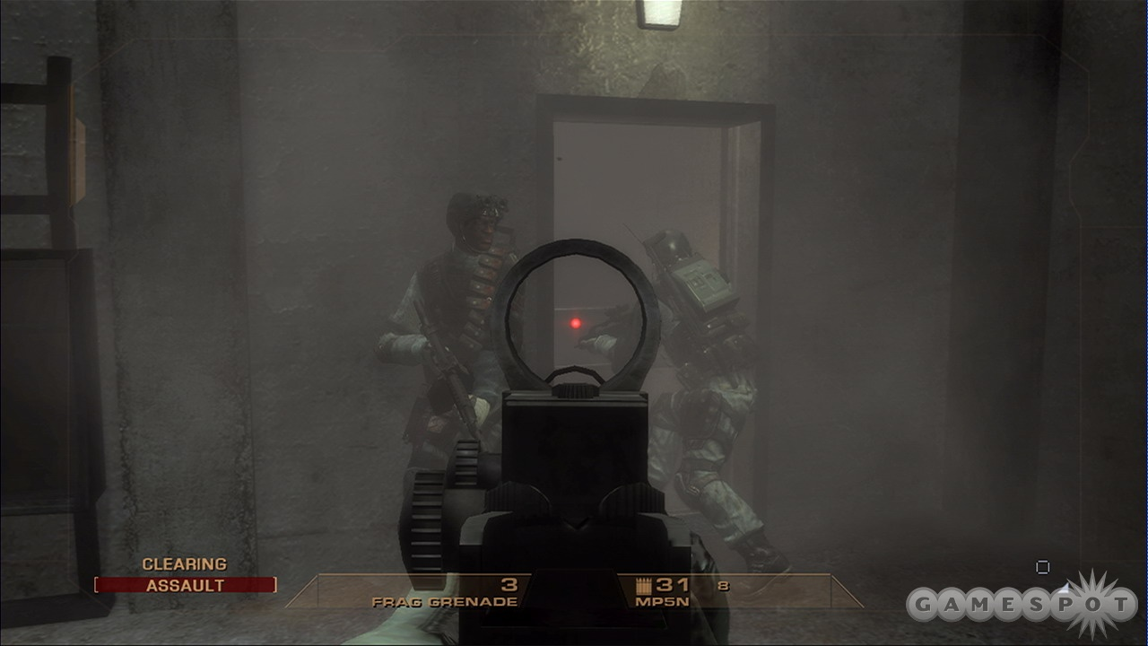 Your AI teammates are smart and capable of storming and clearing a room without you.
