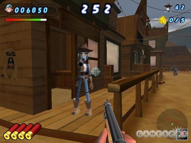 Fear the maniacal cork-gun-packing, cowboy-boot-wearing robots.