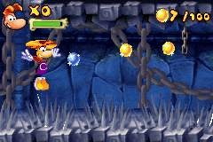 Rayman returns to his hop-happy ways in the GBA rendition of Raving Rabbids--too bad it's a pretty lousy return.