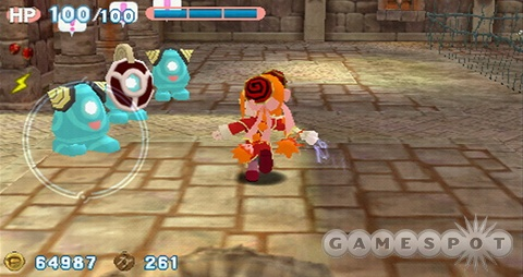 They may be cute, but the enemies in Gurumin still mean business.