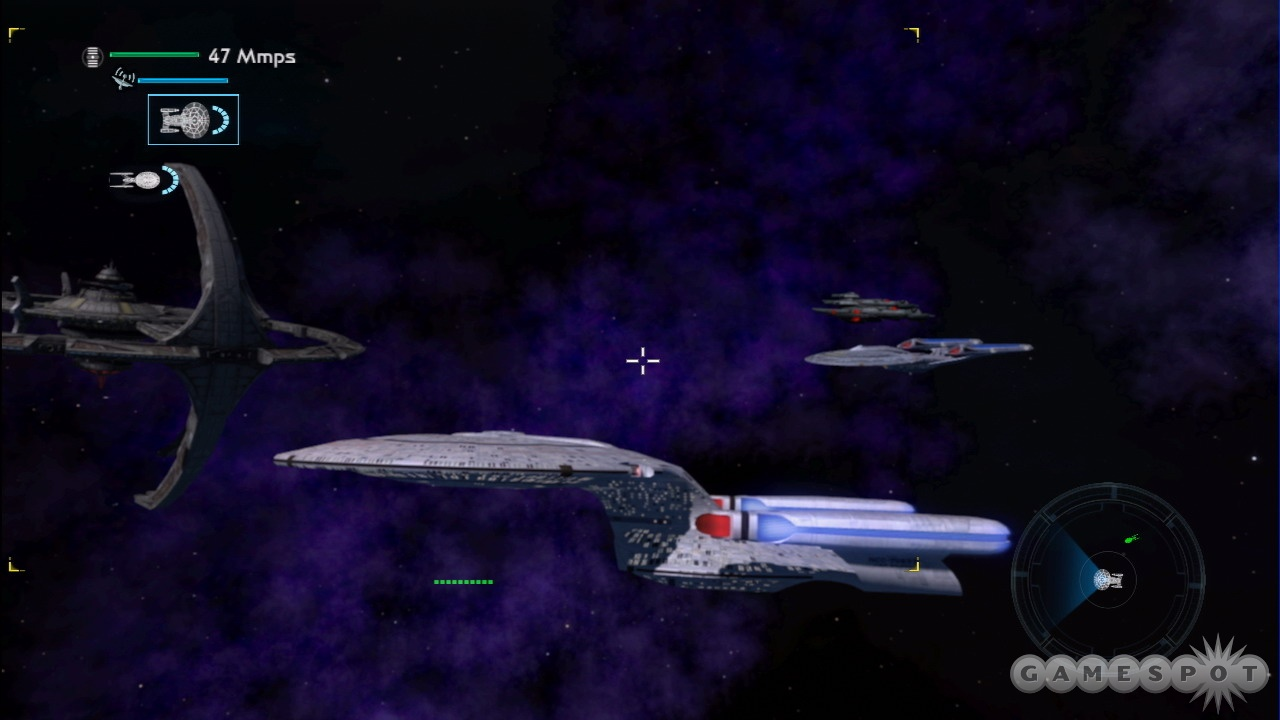 Nearly every iconic starship is in the game, from the NX-01 to the mighty Sovereign-class Enterprise.
