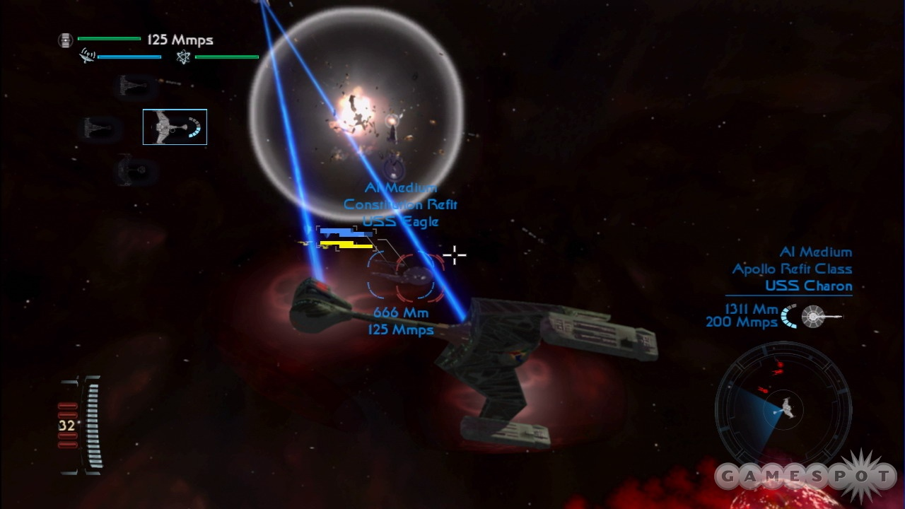 You can also play as the Romulans, Klingons, or even the Borg in skirmish and multiplayer modes.