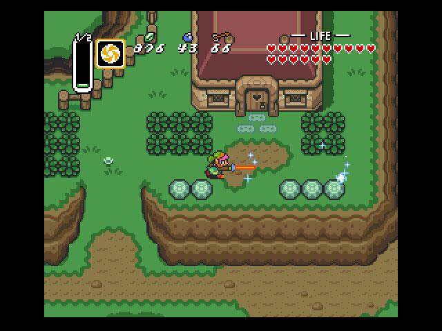Handy with the steel, Link and his magical Master Sword are capable of cutting down the fiercest of enemies...except Ganon, for some reason.