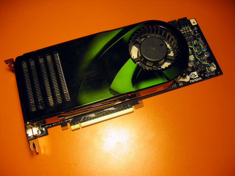 Nvidia GeForce 8800 GTX 768MB reference card.