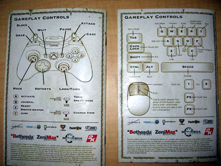 Take a look at the default controls for the two versions of the game, taken from the backs of the respective manuals.