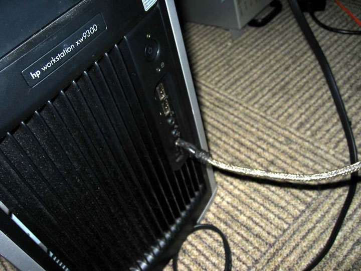 Firewire on the PC. Yes, it's a workstation, but you get the idea.