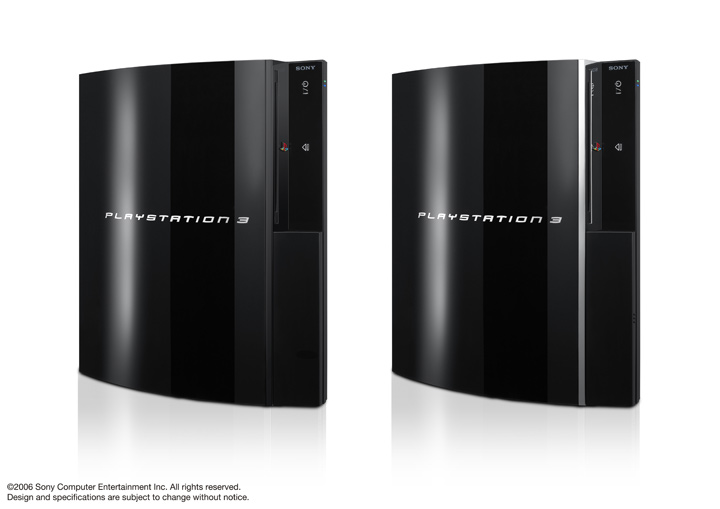 The 60GB PlayStation 3 will have chrome trim.
