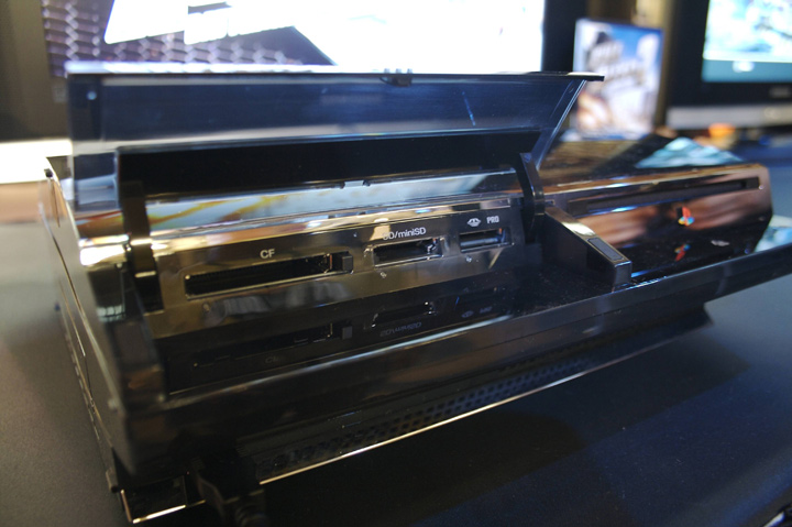 The 60GB PlayStation 3's flash card readers will be useful for transferring music, photos, and videos.