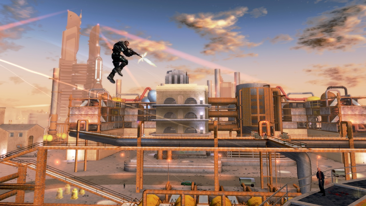 Crackdown puts you in control of a government agent with incredible agility.