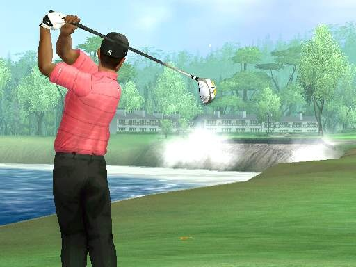 Although the graphics don't stand up to the PlayStation 3 and Xbox 360 versions of the game, the courses and golfers still look impressive in Tiger Woods 07 for the Wii.
