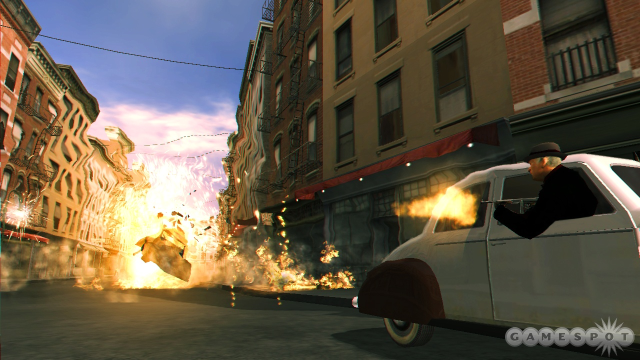 The graphics are looking good on the PlayStation 3, especially the explosions.