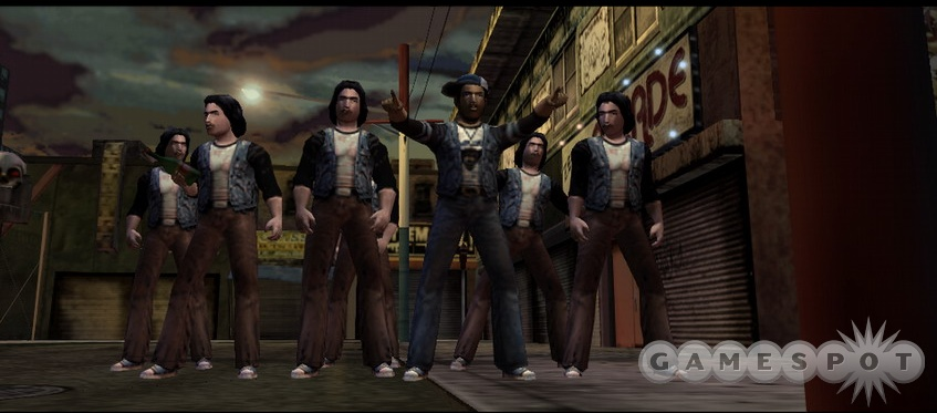 Yes, this passed for a gang in the '70s, and we realize the similarities to the Village People lineup.