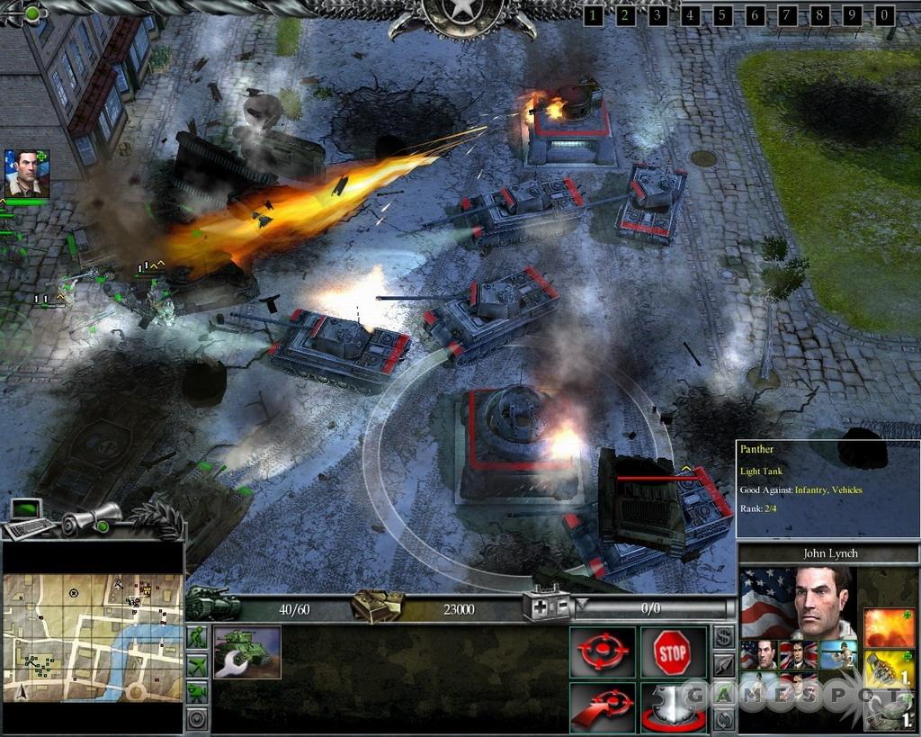 Fiery Nazi defenses.