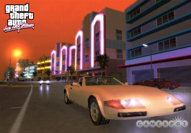 Return to the soft neon glow of Vice City in GTA: Vice City Stories.