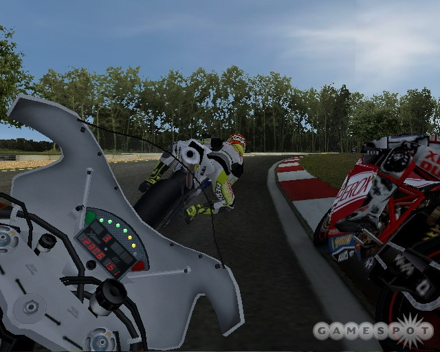 The on-bike camera angle makes it impossible to play without moving your head from side to side.