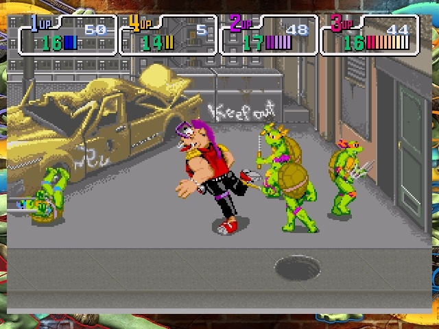 Playing TMNT by yourself isn't much fun, but the co-op can definitely be amusing.