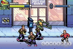 TMNT for the GBA is a beat-'em-up reminiscent of the classic TMNT arcade games.