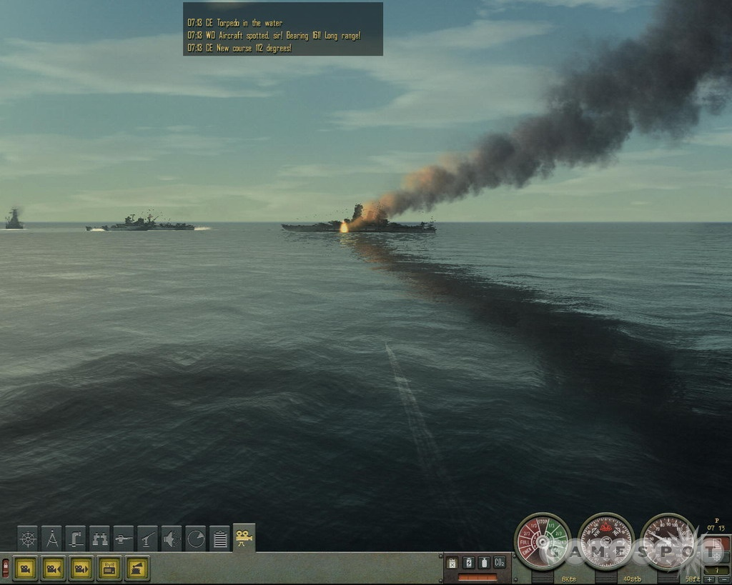 The graphics look great, and there's nothing like watching a Yamato-class battleship burn courtesy of your torpedoes.