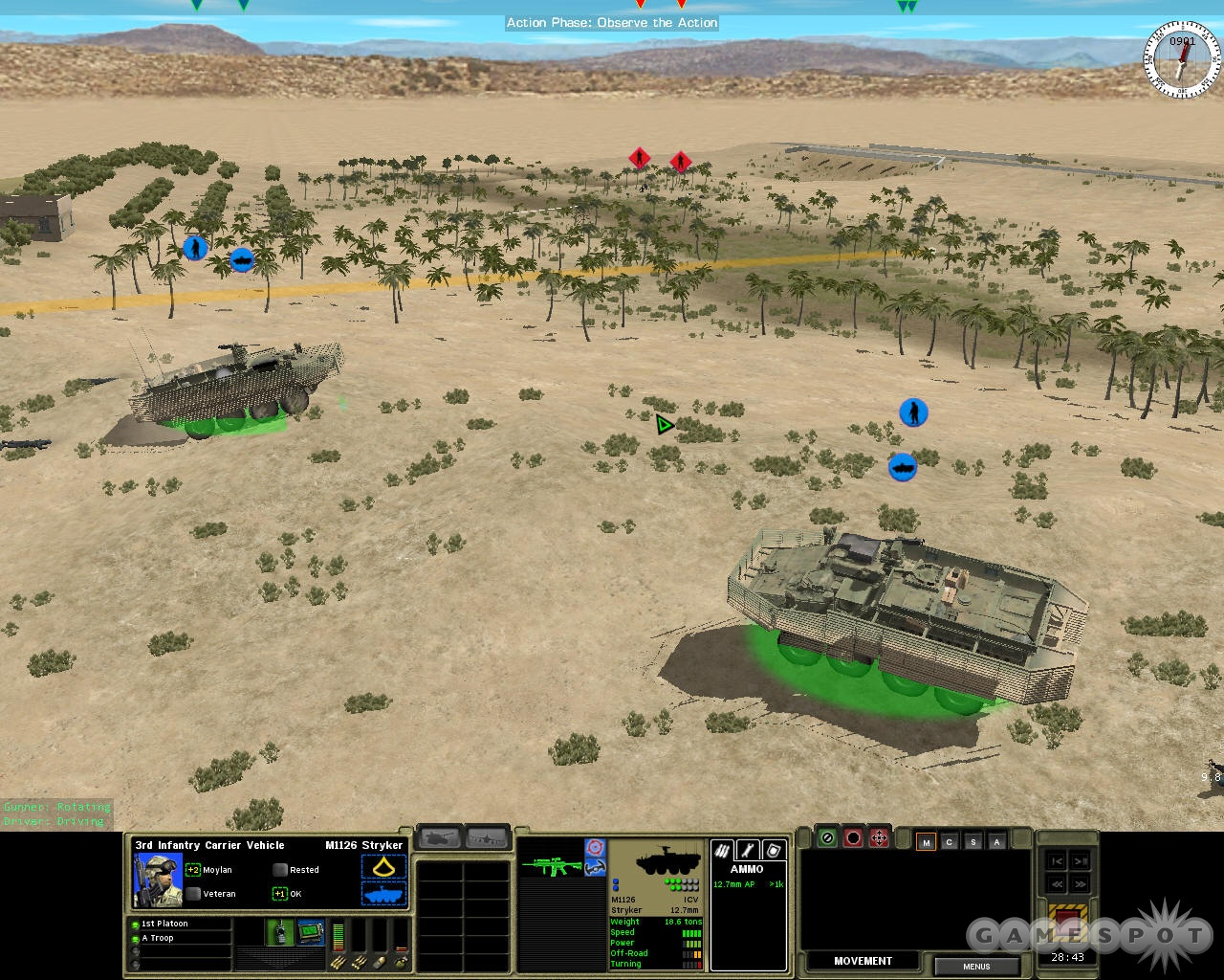 Combat Mission: Shock Force lets you test out the abilities of the US Army's new Styrker combat vehicles.