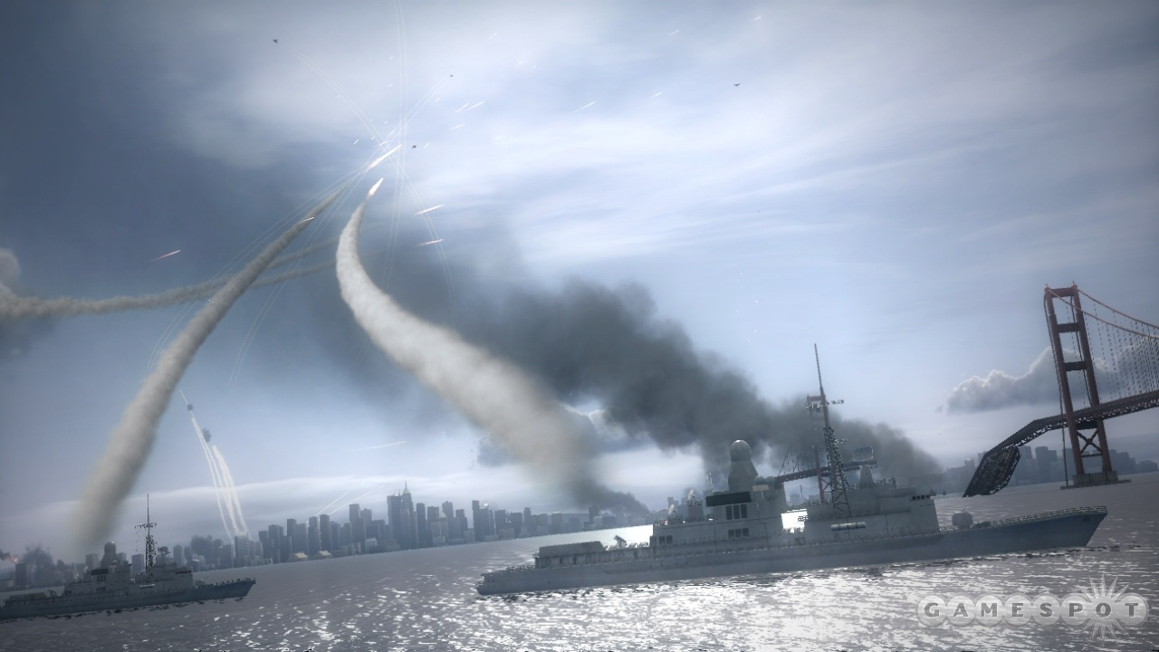 Allied support on land, air, or water will help you survive the mission.