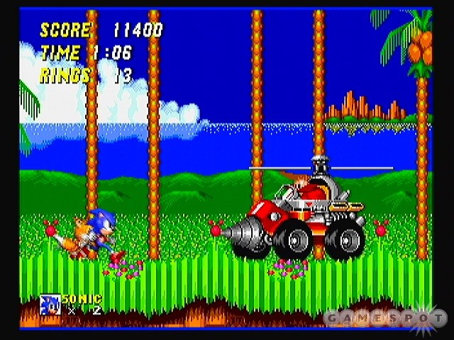 A second player can help you out by controlling Tails.