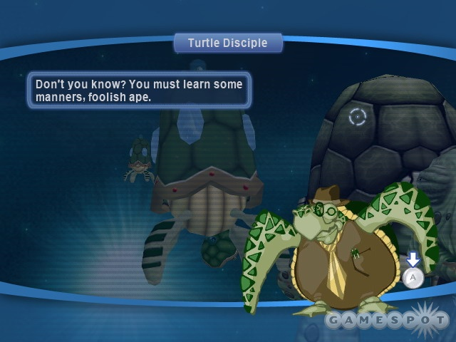 The game's story involves pirates, whales, and your evil twin brother.