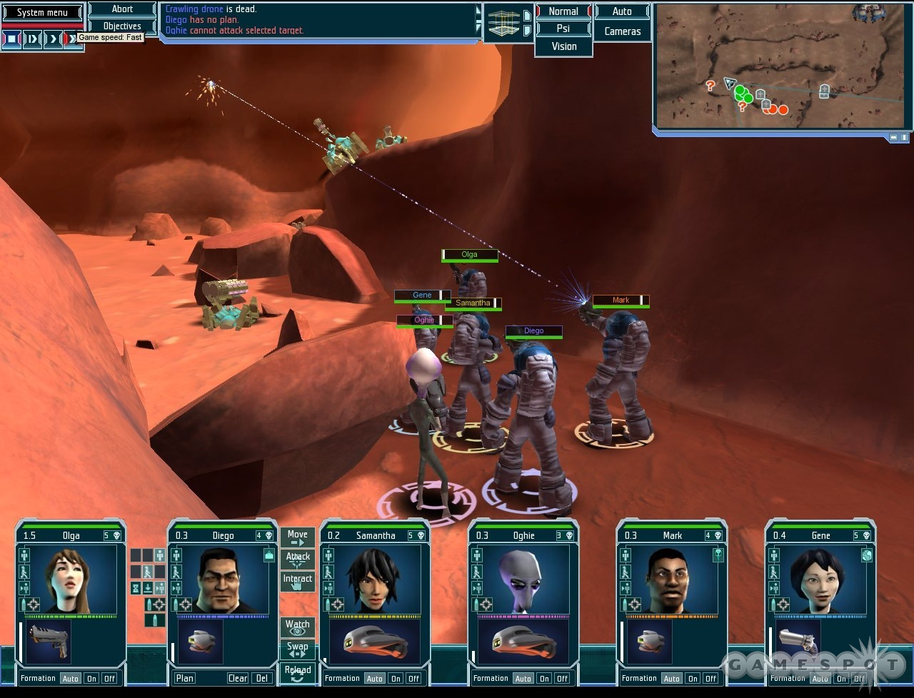 Battling beastmen on the angry red planet..