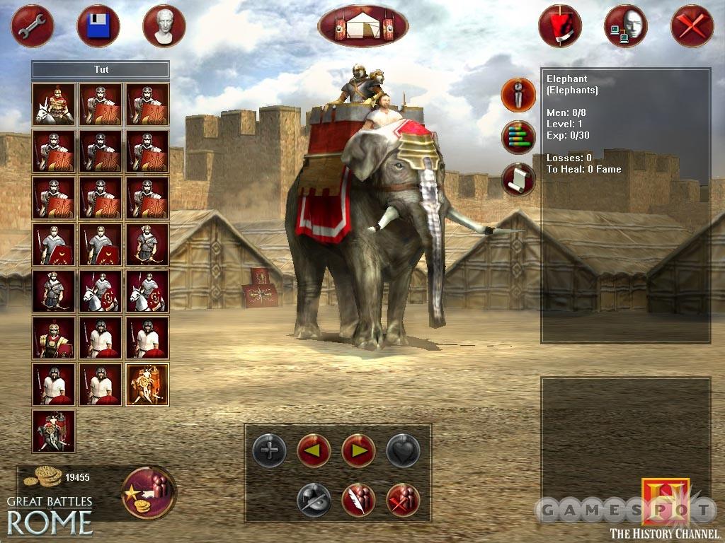 Elephants were the Roman equivalent to tanks.