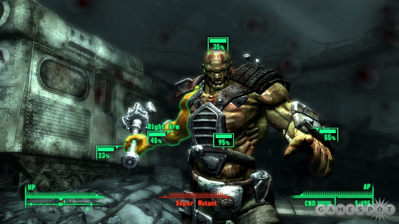The VATS targeting system gives you a fighting chance against super mutants and other enemies.